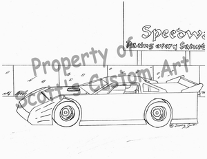 late model coloring pages | Dirt Track Coloring Book - Online