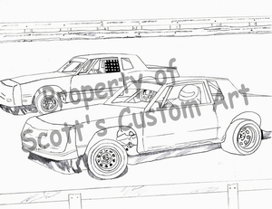 dirt stock car coloring pages sketch